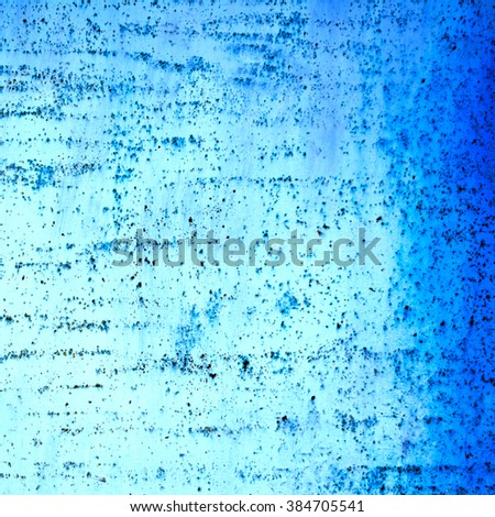 abstract blue metal background texture . Rusty wall