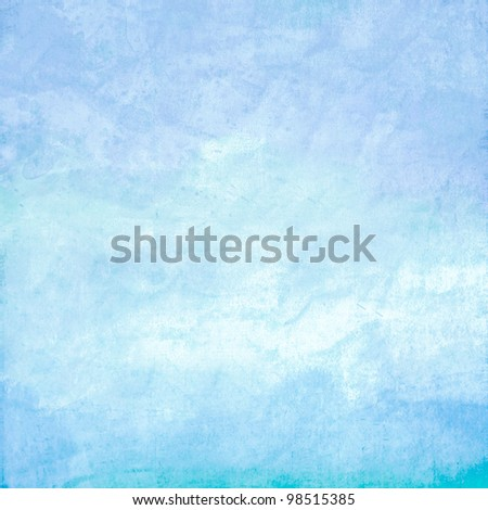 Abstract blue ocean background - stock photo