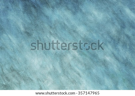 Abstract blue oil painting  on canvas background with brush strokes . Art concept.