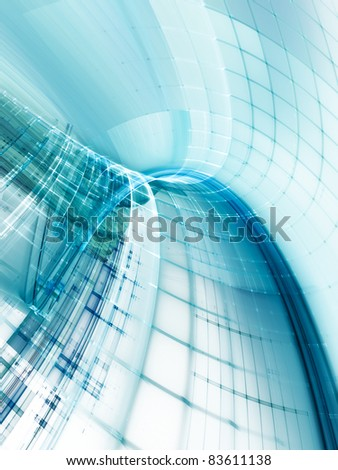 Abstract blue on white digital background - stock photo