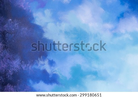 Abstract blue paint color background - stock photo