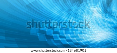 Abstract blue perspective background, banner design