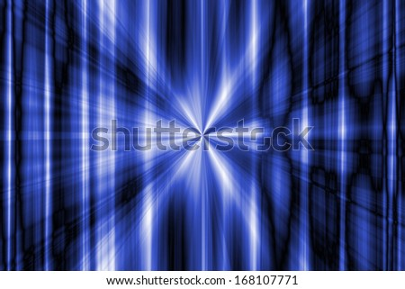 Abstract blue rays background - stock photo
