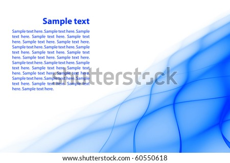 Abstract blue rippled background with copy space - stock photo