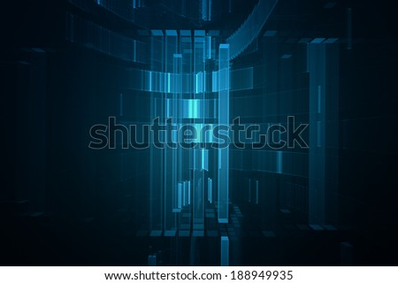 Abstract blue science fiction futuristic technology background