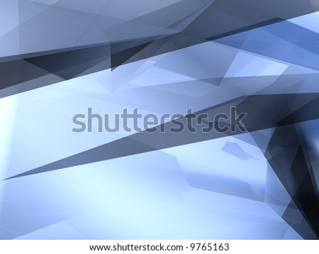 Abstract blue shape for background