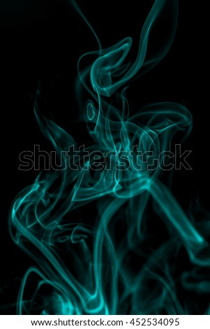 Abstract blue smoke with space as background. - stock photo