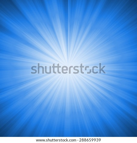 Abstract Blue Star Burst Background