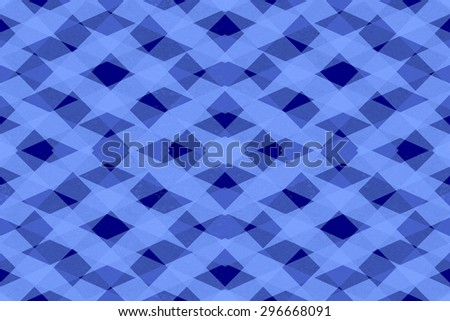 Abstract blue stripes pattern on a dark blue background - stock photo