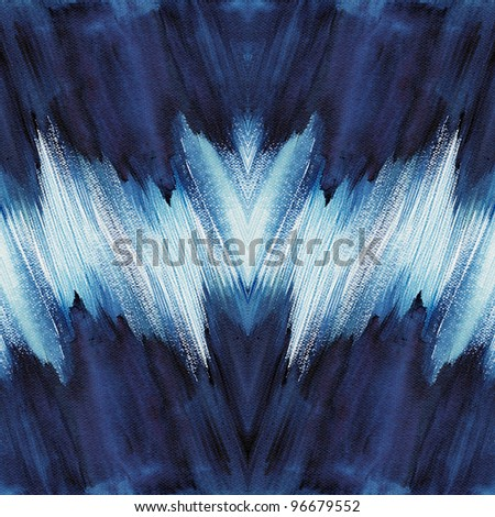 Abstract blue stroke watercolor ,paint high-resolution - stock photo