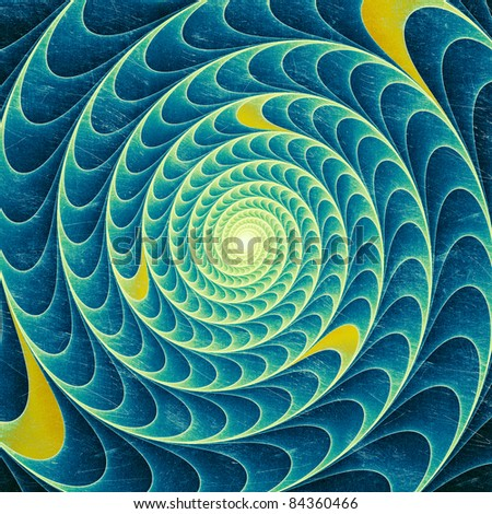 Abstract blue swirl - stock photo