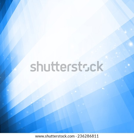 abstract blue tech background - stock photo