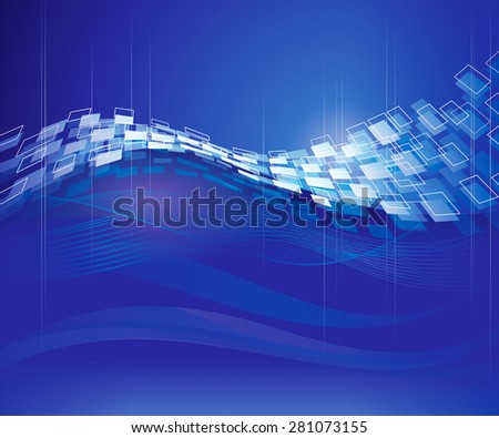 Abstract blue technical modern background. - stock photo