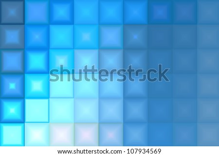 Abstract Blue Tiles Background - stock photo