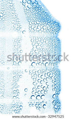 Abstract blue water bubbles - stock photo