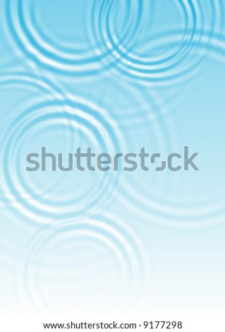 abstract blue water ripple background - stock photo