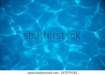 Abstract blue water surface background texture - stock photo