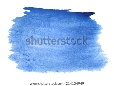 Abstract blue watercolor background for your design
