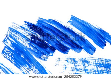 Abstract blue watercolor painted background  - stock photo