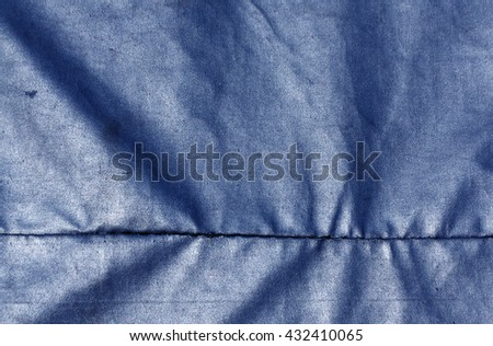 Abstract blue waterproof textile texture. Background and texture for design. - stock photo