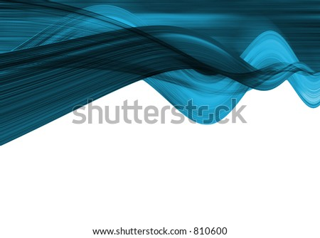 Abstract blue waves - stock photo