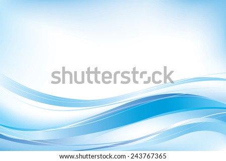 Abstract blue waves background. - stock photo