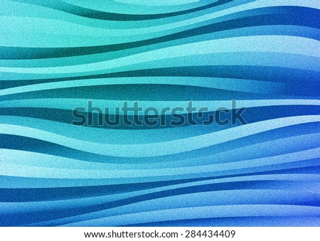 Abstract blue waves background - stock photo