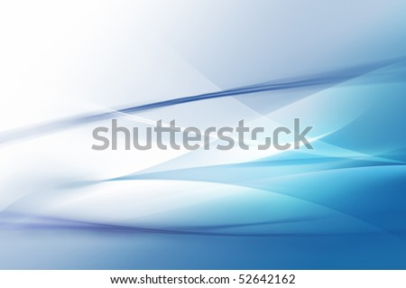 Abstract blue waves or veils background texture - stock photo