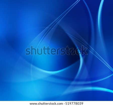 Abstract blue wawy background with a smooth lines