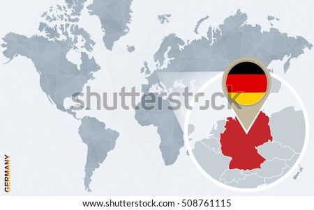 World Map Pointer Flag Germany Vector Stock Vector - World map germany