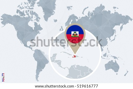 Abstract blue world map magnified haiti stock illustration 519616777 abstract blue world map with magnified haiti haiti flag and map raster copy gumiabroncs Gallery