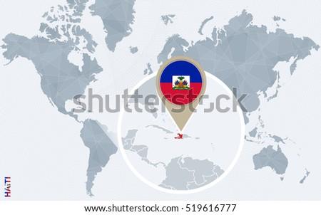 Abstract blue world map magnified haiti stock illustration 519616777 abstract blue world map with magnified haiti haiti flag and map raster copy gumiabroncs Choice Image