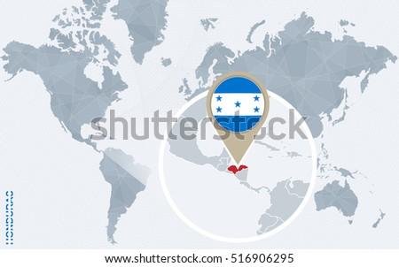 Honduras Flag Map Shaped Stock Images RoyaltyFree Images