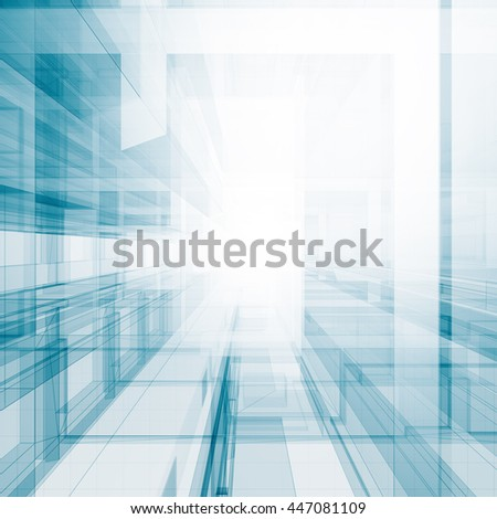 Abstract blueprint. Concept 3D rendering - stock photo