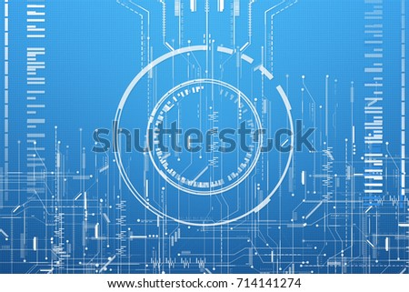Abstract Blueprint Matrix System Circuit Digital Stock Illustration ...