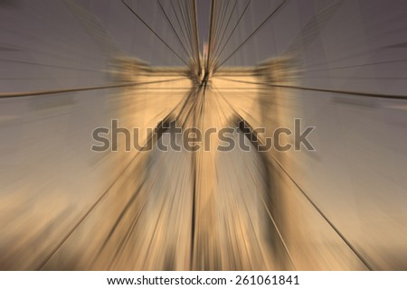 Abstract Blur Background Brooklyn Bridge, New York City Landmark