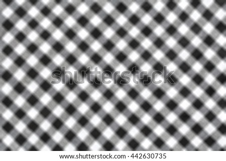 Abstract Blur background of Fabric plaid texture. - stock photo