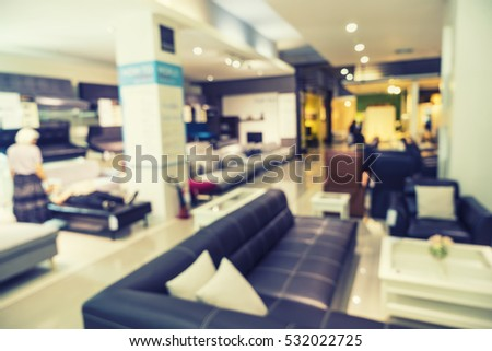 store display furniture. Abstract Blur Background Of Sofa Furniture Store For Sale - Can Use To Display Or Montage