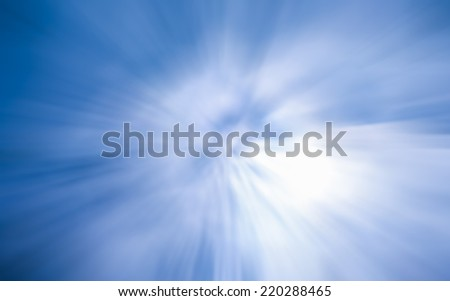 Abstract blur background with zoom effect in light blue and white color - stock photo