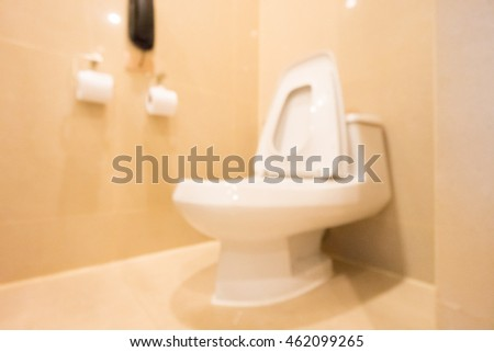 Abstract blur bathroom and toilet interior for background