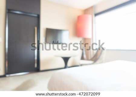 Abstract blur beautiful and luxury bedroom interior for background