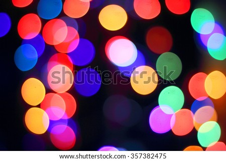 Abstract blur bokeh background of Christmas light