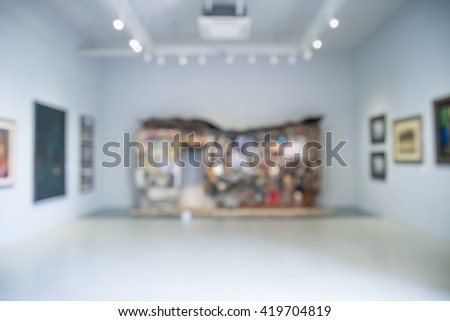 Abstract blur contemporary art center background - stock photo