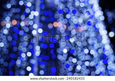 Abstract  blur De focussed  background black, soft focus / De focussed blue and white bokeh twinkling lights background / De focused colorful bokeh twinkling lights background (blur, bokeh, decor)    - stock photo
