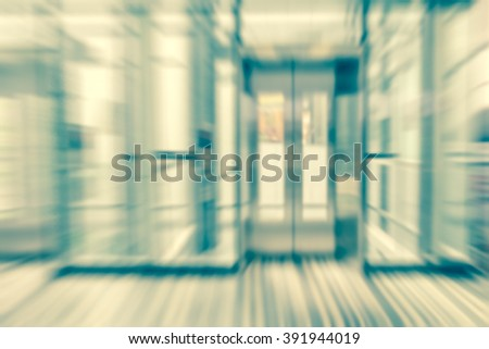 abstract blur elevator background,vintage effect style - stock photo