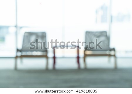 abstract blur empty small table and  chairs - stock photo