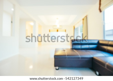 Abstract blur interior of house and living room for background