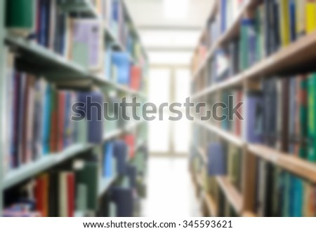 Abstract blur library interior reading room background