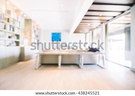 Abstract blur living room interior decoration with modern style - Vintage light Filter