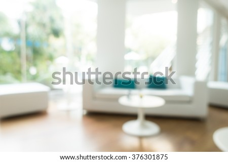 Abstract blur livingroom decoration interior for background - stock photo